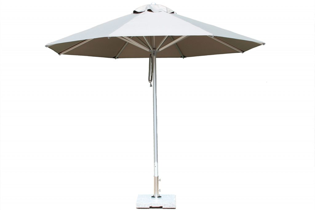White-aluminium-extruded-parasol-design