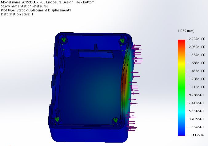 FEA-force-simulation-stress-analysis-3d-compuater-aided-design