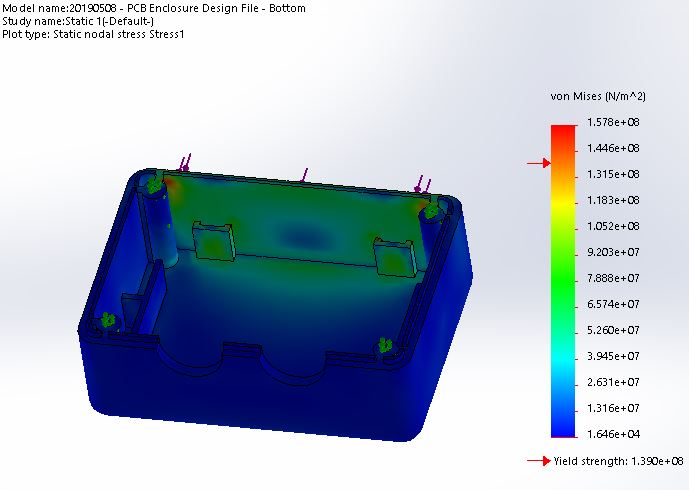 FEA-force-simulation-stress-analysis-for-iot-motion-sensing-device