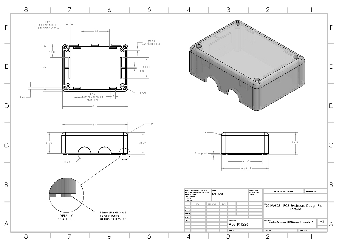 injection-molded-IOT-enclosure-bill-of-materials-construction-drawing