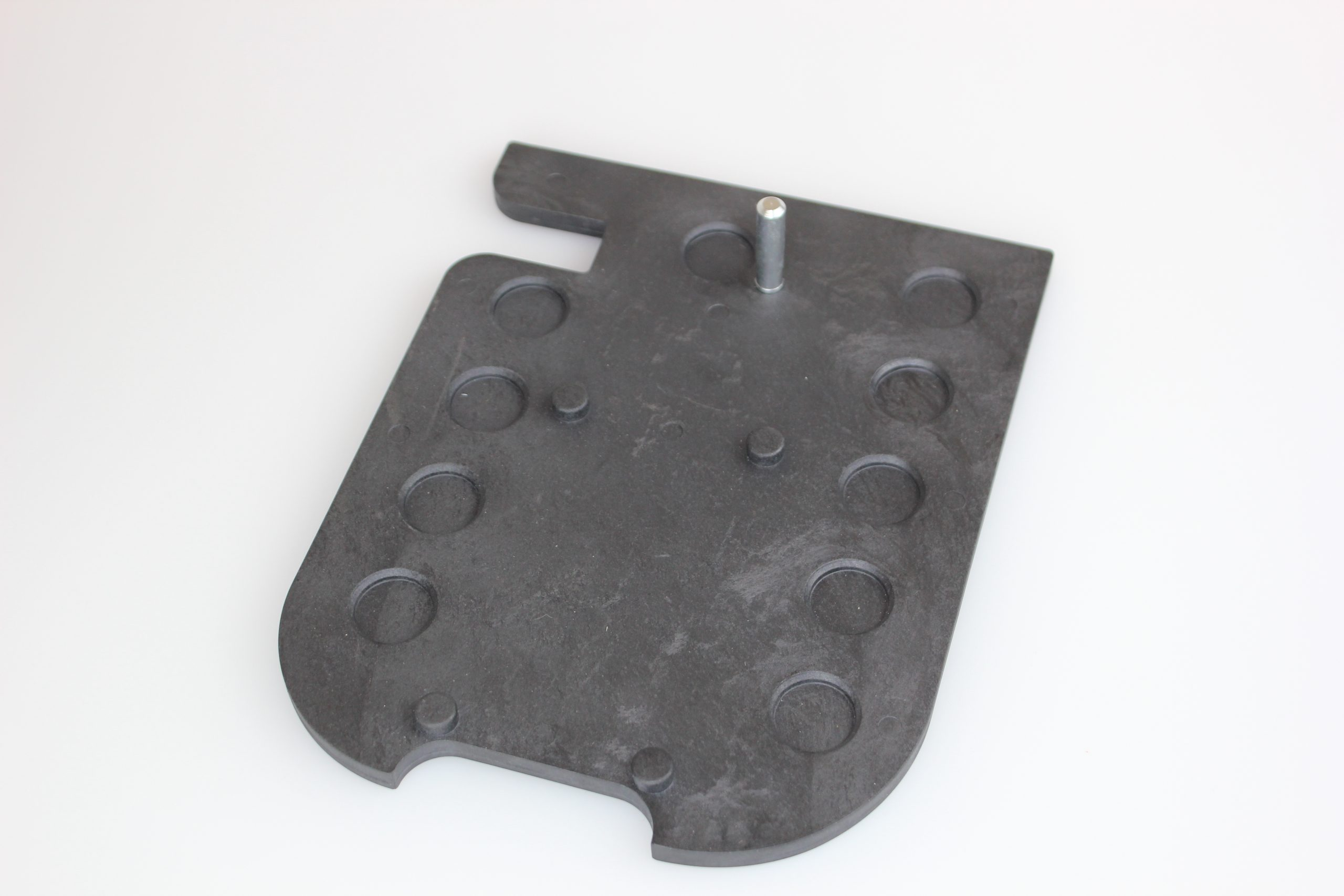 wood-working-tool-PLM-molded-base-plate-computer-generated-graphic-with-metal-stud