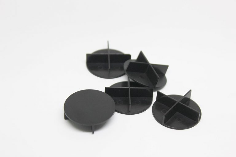 Spacers-design-made-from-black-abs-plastic-high-volume