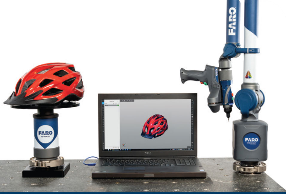faro-3d-scanner-arm-connected-to-scanning-software-and-turntable