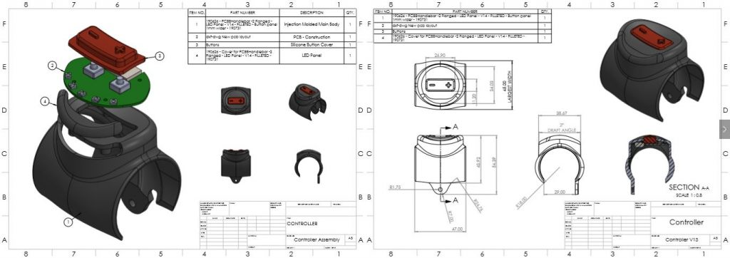 Bill-of-materials-construction-drawing-for-bluetooth-casing-complete-with-pcb