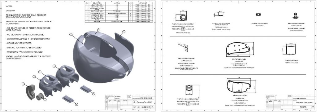 Bill-of-materials-construction-drawing-for-motor-mount
