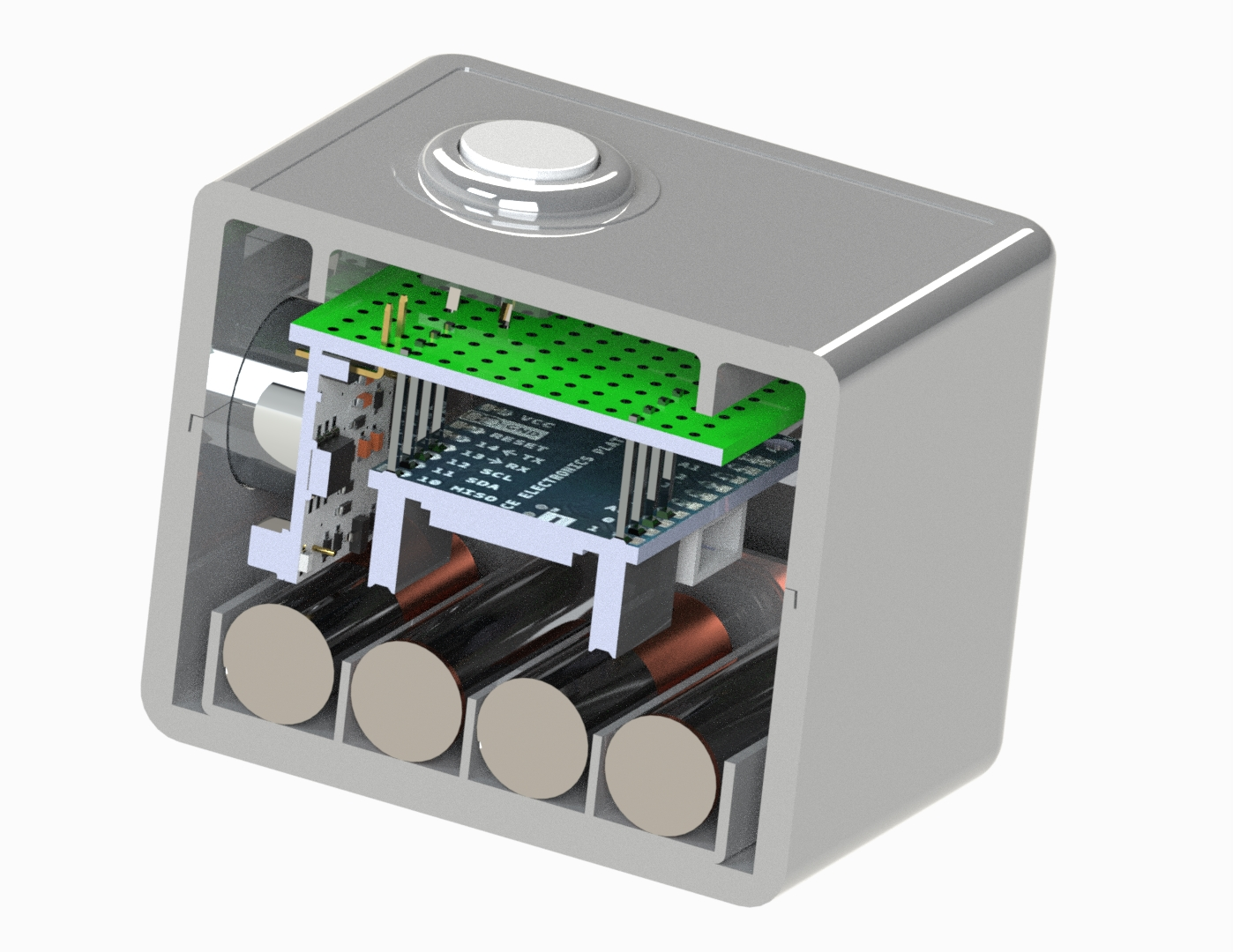 injection-molded-IOT-enclosure-in-cross-section-view-showing-battery-access-and-pcb-board
